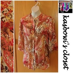 Pretty Sheer Button Up Blouse PLUS 26-28